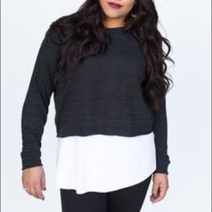 Pullover black two tone